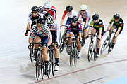 Michaela Drummond competes in the WE Madison during the 2019 Vantage Elite and U19 Track Cycling National Championships at the Avantidrome in Cambridge, New Zealand on Sunday, 10 February 2019. ( Mandatory Photo Credit: Dianne Manson )