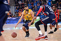 Baskonia's Ilimane Diop and Iberostar Tenerife's David White during Quarter Finals match of 2017 King's Cup at Fernando Buesa Arena in Vitoria, Spain. February 16, 2017. (ALTERPHOTOS/BorjaB.Hojas)