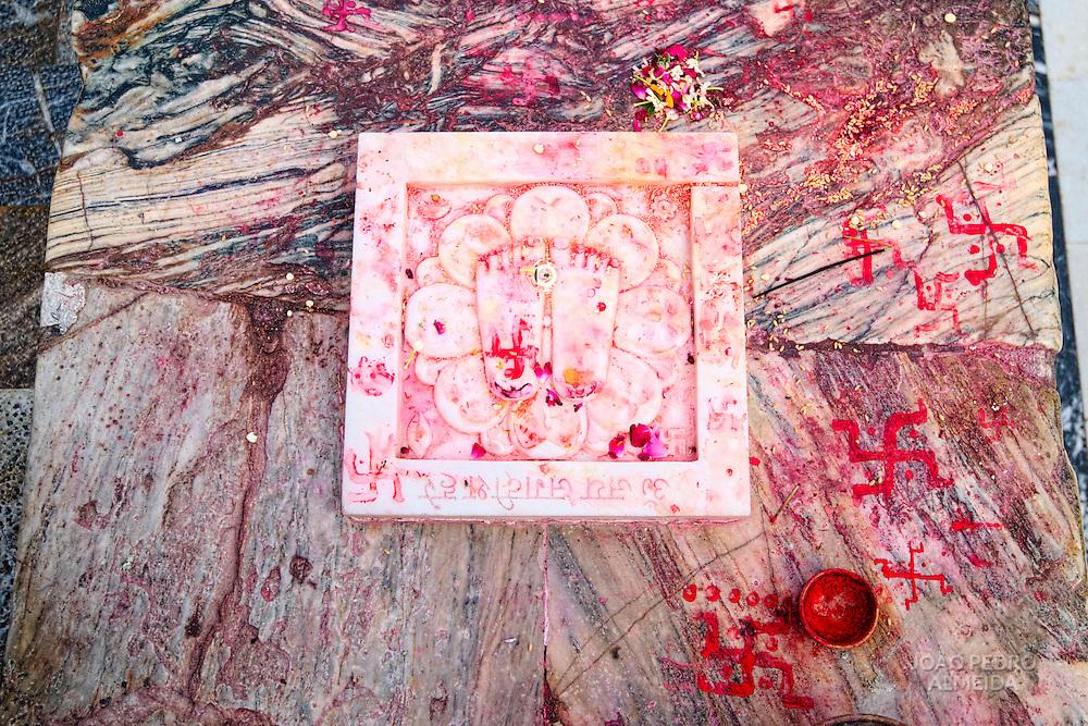 Red powder for blessing at Jagdish Mandir