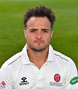 Head shot of Jack Brooks of Somerset during the 2019 media day at Somerset County Cricket Club at the Cooper Associates County Ground, Taunton, United Kingdom on 2 April 2019.