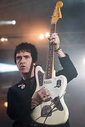 © Licensed to London News Pictures . 09/06/2013 . Heaton Park , Manchester , UK . Johnny Marr performs on the Now Wave stage . Day 2 of the Parklife music festival in Manchester on Sunday 9th June 2013 . Photo credit : Joel Goodman/LNP