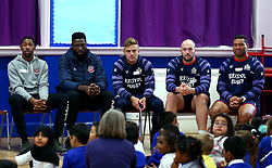 Bristol Sport and Bristol Energy launch their partnership at Millpond School with help from Ian Madigan, Joe Latta and Siale Piutau of Bristol Rugby and Daniel Edozie and Rhondell Goodwin of Bristol Flyers - Mandatory by-line: Robbie Stephenson/JMP - 09/10/2017 - SPORT - Millpond School - Bristol, England - Bristol Sport and Bristol Energy Partnership Launch