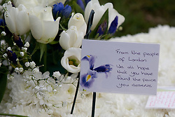 © licensed to London News Pictures. Stafford, UK  17/03/2012. Flowers and tributes left at the funeral of PC David Rathband. Photo credit should read Joel Goodman/LNP