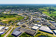 Nederland, Gelderland, Doetinchem, 29-05-2019; bedrijventerrein Wijnbergen, gelegen aan rijksweg A18, de Europaweg.<br /> Wijnbergen business park, located on highway A18.<br /> <br /> luchtfoto (toeslag op standard tarieven);<br /> aerial photo (additional fee required);<br /> copyright foto/photo Siebe Swart