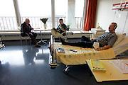 The Hague. Hospital. MCH. Medisch Centrum Haaglanden. People in their hospital room..Photo: Gerrit de Heus