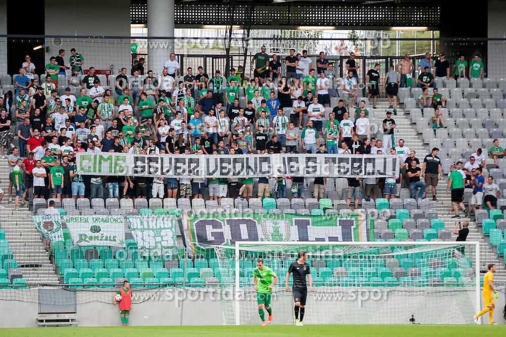 Green Dragons during International friendly football match between NK Olimpija Ljubljana (SLO) and Celtic FC (SCO), on July 6, 2016 in SRC Stozice, Ljubljana, Slovenia. Photo by Urban Urbanc / Sportida