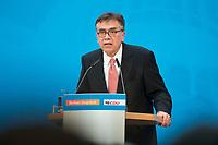 """17 JUL 2014, BERLIN/GERMANY:<br /> Prof. Dr. Juergen Osterhammel, Professor fuer Neuere und Neuste Geschichte an der Universität Konstanz, haelt den Festvortrag, waehrend dem """"Berliner Gespraech spezial"""" der CDU, anlaesslich des 60. Geburtstags von Angela Merkel, Konrad-Adenauer-Haus<br /> IMAGE: 20140717-01-020<br /> KEYWORDS: Jürgen Osterhammel,"""