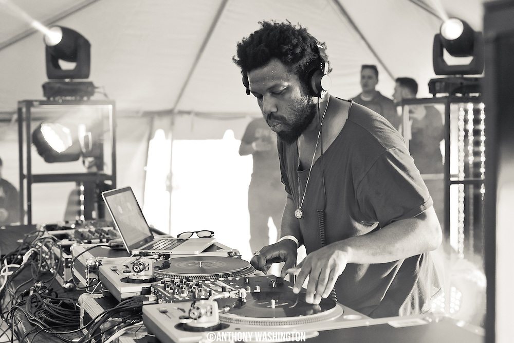 DJ James Nasty  performs in the Electric Isle DJ tent during Shamrockfest on the grounds of RFK Stadium in Washington, DC on Saturday, March 21, 2015.