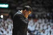 "Kentucky head coach John Calipari reacts against Mississippi at the C.M. ""Tad"" Smith Coliseum on Tuesday, January 29, 2013."