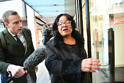 © Licensed to London News Pictures. 06/01/2020. London, UK. DIANNE ABBOTT MP arrives for a Labour Party NEC meeting in London. Photo credit: Ben Cawthra/LNP