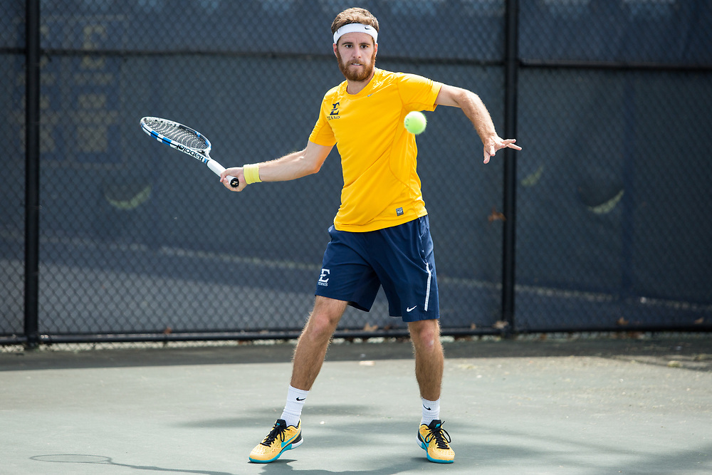 April 14, 2017 - Johnson City, Tennessee - Dave Mullins Tennis Complex: Wenceslao Albin<br /> <br />  Image Credit: Dakota Hamilton/ETSU