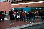 Roma 6 Dicembre 2011.Manifestazione  a Ponte Mammolo degli studenti universitari , precari, lavoratori e migrant iper contestare il rialzo del prezzo del biglietto dei mezzi pubblici, a 1,50 euro. E contro l' aumento del 18% di aumento delle bollette dell'acqua..