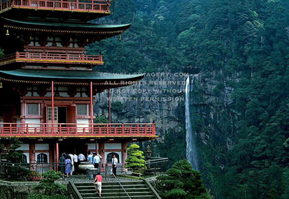 Image of the Seiganto-ji Tendai Buddhist Temple and Nachi Falls in Wakayama Prefecture, Japan
