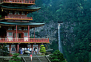 Image of the Seiganto-ji Tendai Buddhist Temple and Nachi Falls in Wakayama Prefecture, Japan