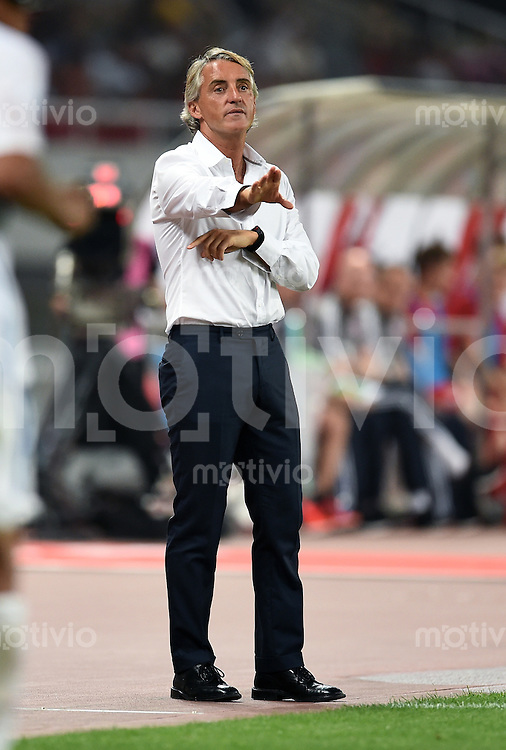 FUSSBALL     1. BUNDESLIGA     SAISON  2015/2016  Testspiel Audi Football Summit Shanghai 21.07.2015 FC Bayern Muenchen 1-0 Inter Mailand Trainer Roberto Mancini (Inter Mailand)
