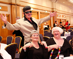 © Licensed to London News Pictures. 07/01/2012. BIRMINGHAM, UK.  Hundreds of Elvis impersonators gathered in Birmingham today to take part in the annual European Elvis Championship at the Hilton Metropole Hotel at the National Exhibition Centre today.  Photo credit: Alison Baskerville/LNP