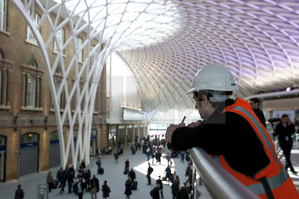 © licensed to London News Pictures. London, UK 19/03/2012. The new concourse at King's Cross train station in London which opened to commuters today (19/03/2012). Photo credit: Tolga Akmen/LNP