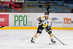 22.10.2016, Ice Rink, Znojmo, CZE, EBEL, HC Orli Znojmo vs Dornbirner Eishockey Club, 13. Runde, im Bild Charlie Sarault (Dornbirner) // during the Erste Bank Icehockey League 13th round match between HC Orli Znojmo and Dornbirner Eishockey Club at the Ice Rink in Znojmo, Czech Republic on 2016/10/22. EXPA Pictures © 2016, PhotoCredit: EXPA/ Rostislav Pfeffer