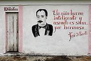 Revolutionary sign in Las Tres Palmas, Pinar del Rio, Cuba.