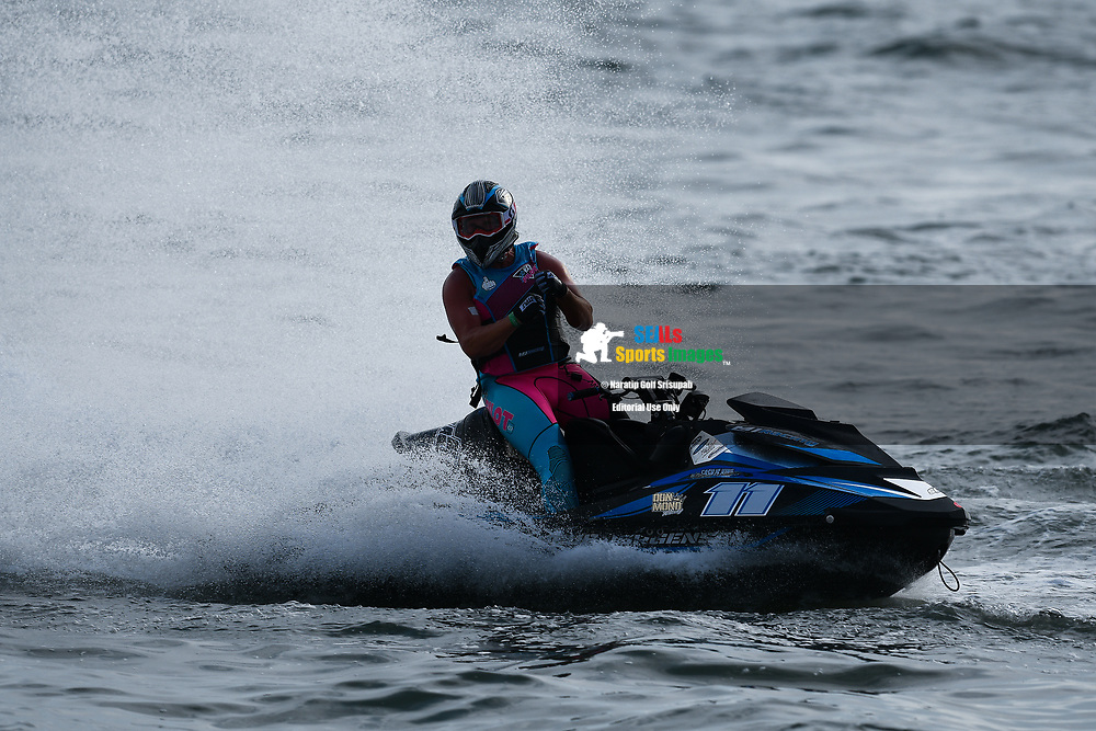 PATTAYA, THAILAND - DECEMBER 09: Marcus Jorgensen (11) of Denmark and MJ Racing reaction after the Pro Runabout GP Moto4 at the Thai Airways International Jet Ski World Cup 2018, Jomtien Beach, Pattaya, Thailand on December 09, 2018. <br /> .<br /> .<br /> .<br /> (Photo by: Naratip Golf Srisupab/SEALs Sports Images)<br /> .<br /> Any image use must include a mandatory credit line adjacent to the content which should read: Naratip Golf Srisupab/SEALs Sports Images