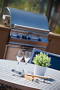 Stainless Steel Barbecue Stock Photo