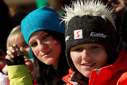 Fans during 2nd Rund of Men's Giant Slalom of FIS Ski World Cup Alpine Kranjska Gora, on March 5, 2011 in Vitranc/Podkoren, Kranjska Gora, Slovenia.  (Photo By Vid Ponikvar / Sportida.com)