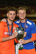 Bolton's goalkeepers Bolton's U23 James Aspinall (L) and Bolton's U23 Jake Turner (R) during the U23 Professional Development League Play-Off Final match between Nottingham Forest and Bolton Wanderers at the City Ground, Nottingham, England on 4 May 2018. Picture by Jon Hobley.