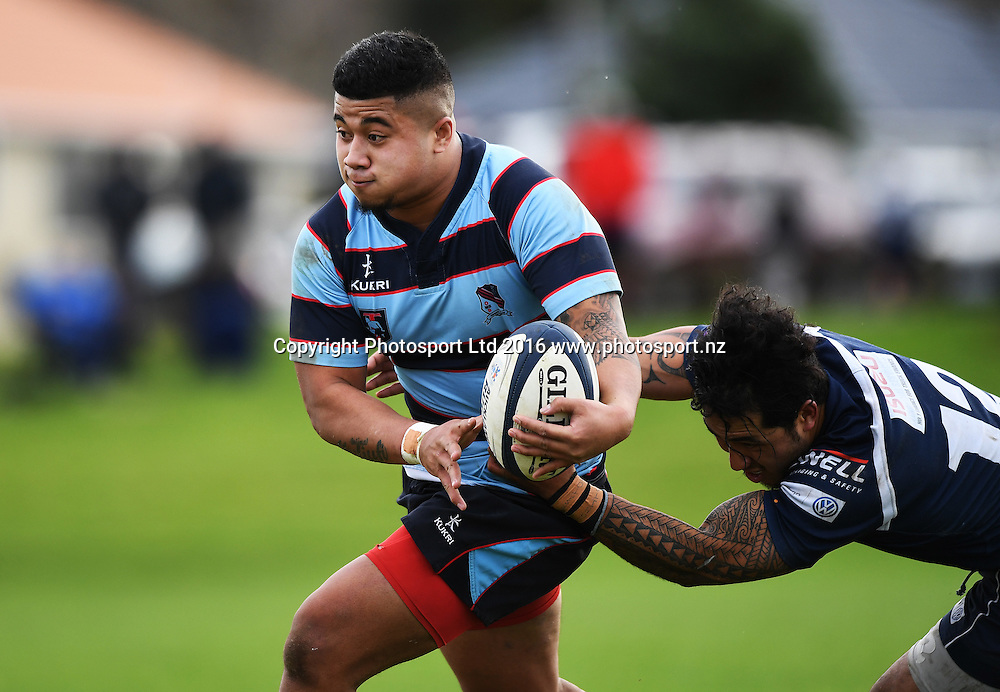 Marist's Enoka Muliufi.<br /> Marist v College Rifles. Auckland Premier Club Rugby. Saturday 9 July 2016. &copy; Copyright Photo: Andrew Cornaga / www.Photosport.nz