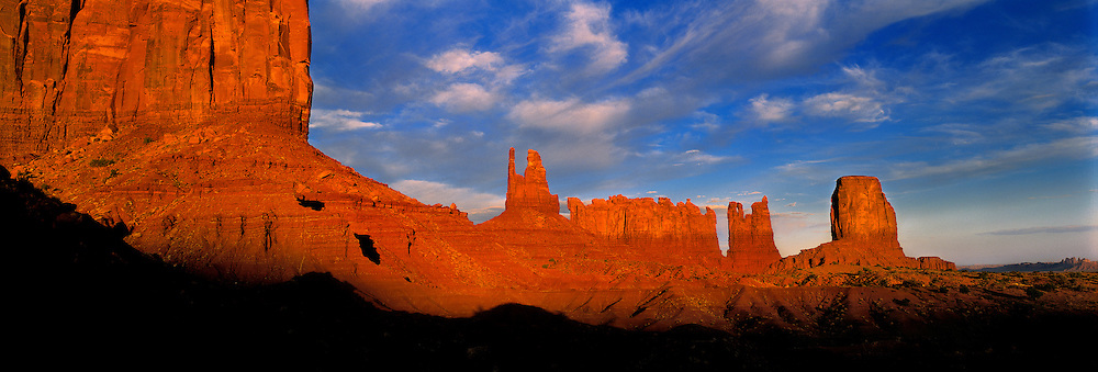 King on a Throne and the Stagecoach are just a few of the formations in Monument Valley, Utah.