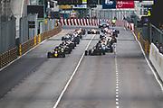 Start of the 62nd Macau Grand Prix led by Daniel TICKTUM, GBR, Motopark Academy Dallara-Volkswagen, Joel ERIKSSON,  SWE, Motopark Academy Dallara-Volkswagen <br /> <br /> 65th Macau Grand Prix. 14-18.11.2018.<br /> Suncity Group Formula 3 Macau Grand Prix - FIA F3 World Cup<br /> Macau Copyright Free Image for editorial use only