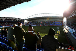 A general view of the DW Stadium as Wigan Athletic and Rochdale walk out to face each other in Sky Bet League One - Mandatory by-line: Robbie Stephenson/JMP - 24/02/2018 - FOOTBALL - DW Stadium - Wigan, England - Wigan Athletic v Rochdale - Sky Bet League One