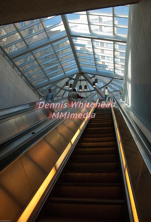 Escalator in Columbia Heights Metro station in Washington DC