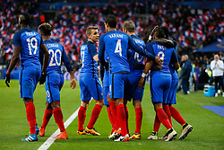 29.03.2016, Stade de France, St. Denis, FRA, Testspiel, Frankreich vs Russland, im Bild digne lucas, varane raphael, gignac andre pierre, payet dimitri, sagna bacary, pogba paul, coman kingsley // during the International Friendly Football Match between France and Russia at the Stade de France in St. Denis, France on 2016/03/29. EXPA Pictures © 2016, PhotoCredit: EXPA/ Pressesports/ Sebastian Boue<br /> <br /> *****ATTENTION - for AUT, SLO, CRO, SRB, BIH, MAZ, POL only*****
