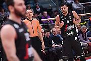 Alessandro Gentile, Manuel Mazzoni arbitro<br /> Virtus Segafredo Bologna - Happy Casa New Basket Brindisi<br /> LegaBasket 2017/2018<br /> Bologna, 25/03/2018<br /> Foto M.Ceretti / Ciamillo - Castoria