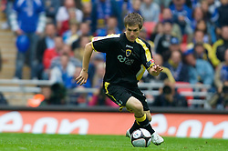 LONDON, ENGLAND - Saturday, May 17, 2008: Cardiff City's Aaron Ramsey in action against Portsmouth during the FA Cup Final at Wembley Stadium. (Photo by David Rawcliffe/Propaganda)