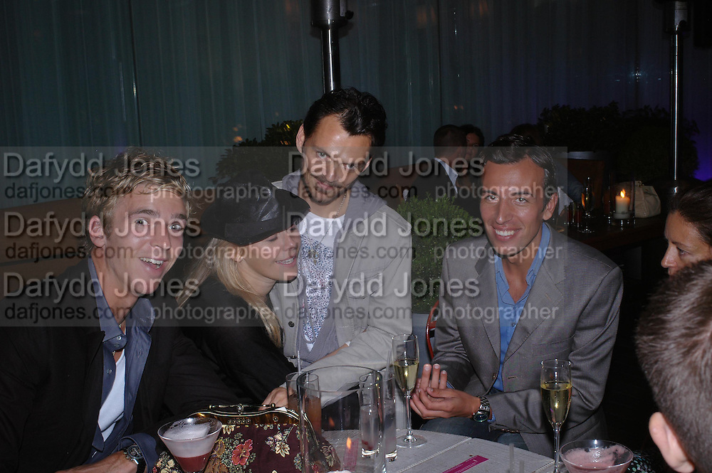 James Cook, Kiera Parks, Matthew Williamson and Joseph Allosa. Matthew Williamson and James Cook. An evening in aid of cancer charity Clic Sargent held at the Sanderson Hotel, Berners Street, London on 4th July 2005ONE TIME USE ONLY - DO NOT ARCHIVE  © Copyright Photograph by Dafydd Jones 66 Stockwell Park Rd. London SW9 0DA Tel 020 7733 0108 www.dafjones.com