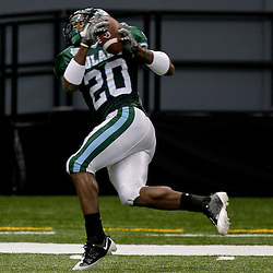 Sep 26, 2009; New Orleans, LA, USA; Tulane Green Wave wide receiver Jeremy Williams (20) catches a pass at the Louisiana Superdome. Tulane defeated McNeese State 42-32. Mandatory Credit: Derick E. Hingle-US PRESSWIRE