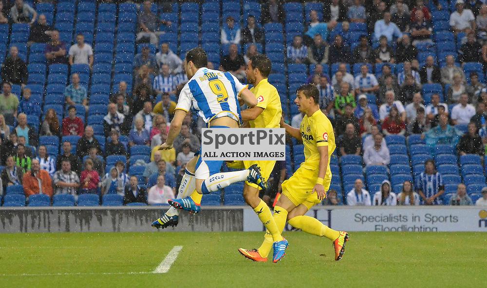 Ashley Barnes firing Brighton into the lead. (c) Michael Hulf | SportPix.org.uk