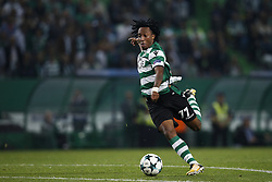 October 31, 2017 - Lisbon, Portugal - Sporting's forward Gelson Martins in action during Champions League 2017/18 match between Sporting CP vs Juventus FC, in Lisbon, on October 31, 2017. (Credit Image: © Carlos Palma/NurPhoto via ZUMA Press)