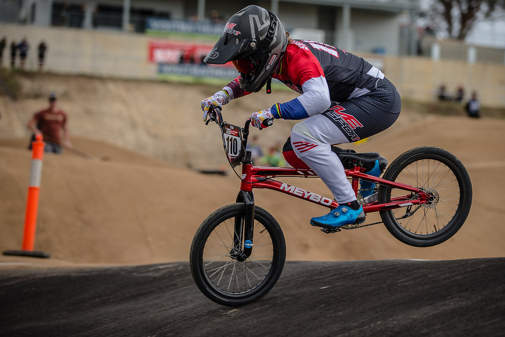 #110 (SMULDERS Laura) NED at Round 3 of the 2020 UCI BMX Supercross World Cup in Bathurst, Australia.