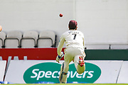 Ben Foakes of Surrey just fails to make a catch on the boundary during the Specsavers County Champ Div 1 match between Surrey County Cricket Club and Hampshire County Cricket Club at the Kia Oval, Kennington, United Kingdom on 18 August 2019.