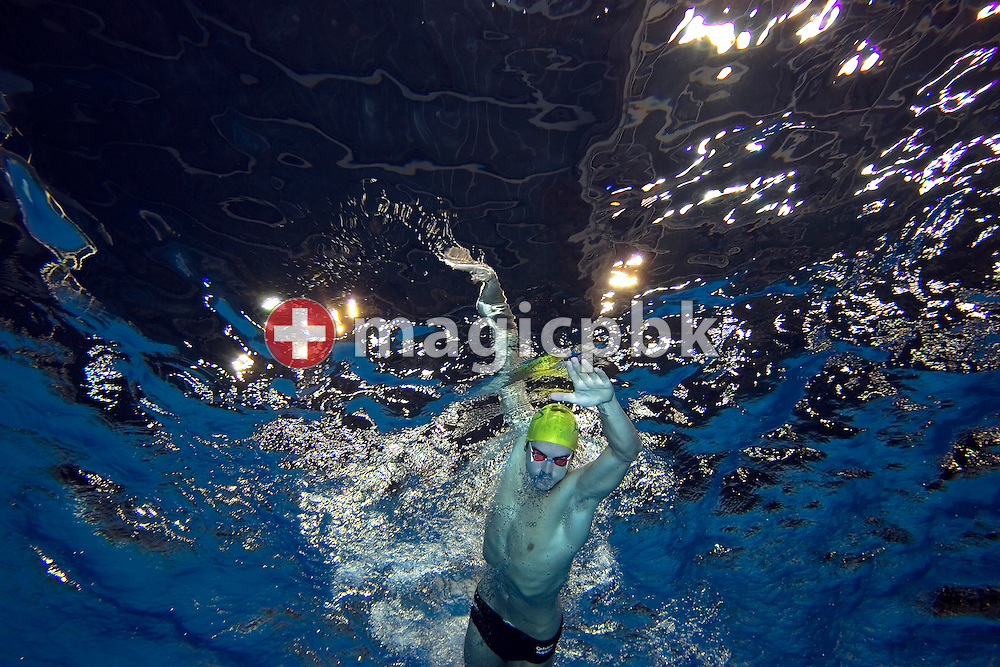 Eamon SULLIVAN of Australia is pictured during an under water photo session in the Schwimm- und Sprunghalle Europa Sportpark after the evening session at the Fina Swimming World Cup in Berlin, Germany, Sunday 18 November 2007. (Photo by Patrick B. Kraemer / MAGICPBK)