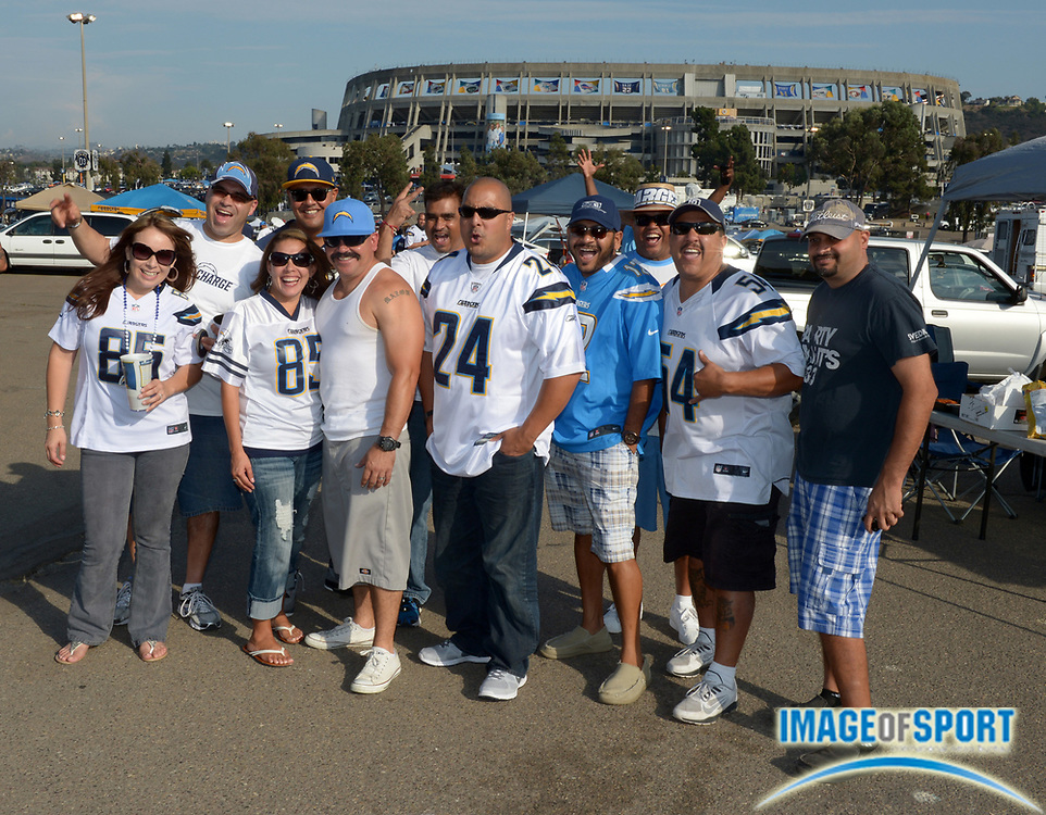 Sep 9, 2013; San Diego, CA, USA; San Diego Chargers fans tailgate before the game against the Houston Texans at Qualcomm Stadium.