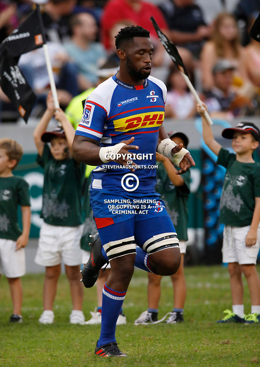 Siya Kolisi (captain) of The DHL Stormers during the Super rugby match between the Cell C Sharks and the DHL Stormers at Jonsson Kings Park ,Durban,South Africa.20,04,2018 (Photo by AL NICOLL -Steve Haag Sports)