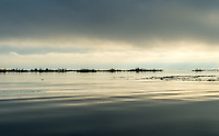 View of Inle Lake scenery early in the morning in Myanmar