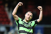 Forest Green Rovers Liam Noble(15) at the end of the match during the Vanarama National League match between Macclesfield Town and Forest Green Rovers at Moss Rose, Macclesfield, United Kingdom on 12 November 2016. Photo by Shane Healey.