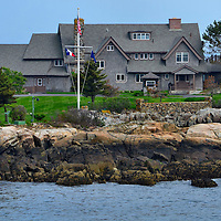 George H. W. Bush Summer Compound on Walker's Point in Kennebunkport, Maine<br />
