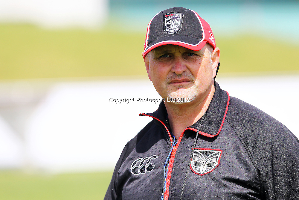 Trainer Carl Jennings, The Vodafone Warriors begin their training ahead of the 2013 NRL rugby league season. Millennium Institute of Sport and Health, Albany, Auckland. 5 November 2012. Photo: William Booth/photosport.co.nz