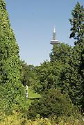 Palmengarten, Fernmeldeturm, Frankfurt am Main, Hessen, Deutschland | Palmengarten, botanical garden in Frankfurt, Germany