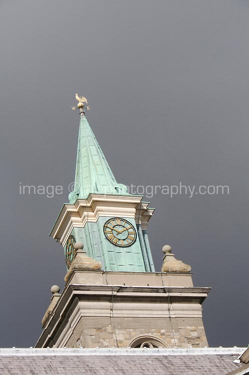 Clock tower at The Irish Museum of Modern Art Royal Hospital Kilmainham in Dublin Ireland
